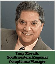 Tony Morelli, Southwestern Regional Compliance Manager