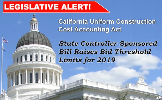 Legislative Alert CUCCAA Bid Threshold Banner